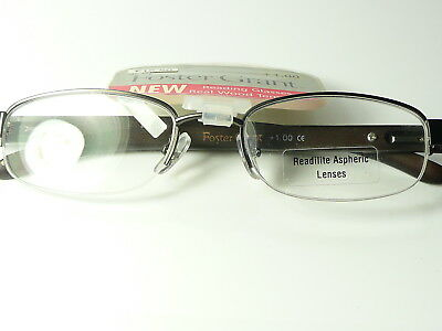 New Mens  Womens Unisex FOSTER GRANT Real Wood arm  'De Foe' Reading Glasses