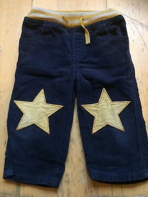 Baby Boden Boys Navy Cords Star Knees 12-18 Months