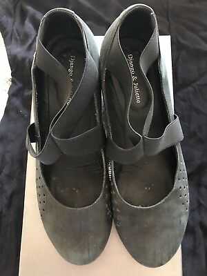 Django and Juliette Ladies Leather Wedge Shoes Size 40