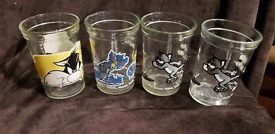 Lot of 4 Welch's Looney Tunes Tom & Jerry  Series Sylvester & Tweety see pics