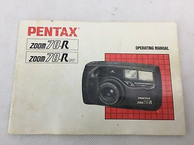 Pentax - Zoom 70-R - Camera Instruction Manual - Manual Only -