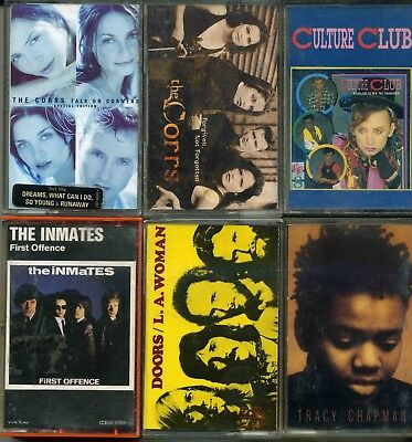 Lot 6 K7 Cassettes Audio The Inmates - The Corrs - Tracy Chapman - The Doors
