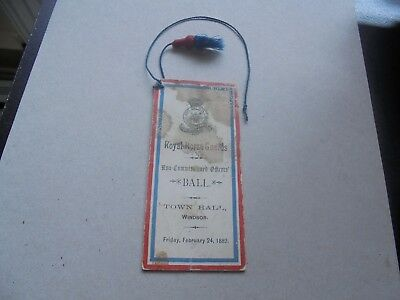 1882 Royal Horse Guards, Non Commissioned Officers Ball, Tag + Tassle