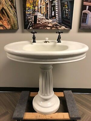 BEAUTIFUL and Unique Antique Pedestal  Sink
