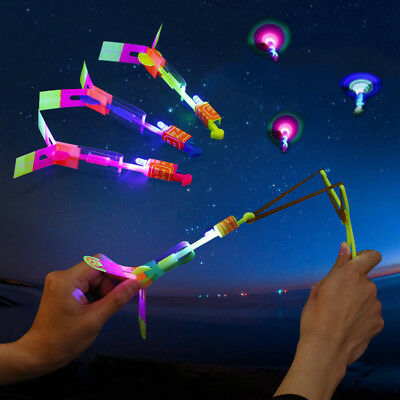 Novel LED Glow Light Up Gadgets Flash Flying Dragonfly Night Party Kids Boy Toys