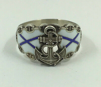 Russian NAVY Solid Silver ring