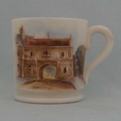 Grainger Worcester miniature mug : Abbey Gateway Malvern
