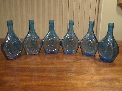 Wheaton Glass Bottle: Mr. Chief Justice, Charles Evans Hughes Set of 6 Vintage