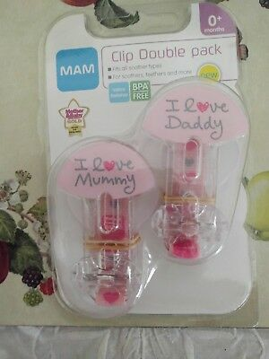 MAM 2 Clips Soother Holder