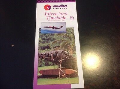 Hawaiian Airlines Interisland Flight Schedule 11-11-1994