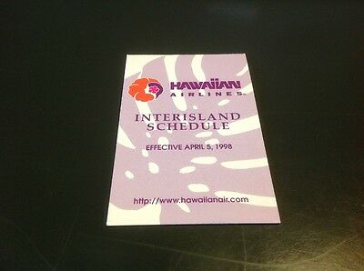 Hawaiian Airlines Inter island Flight Schedule 5-5-1998