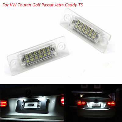 2X For VW Touran Golf Passat Jetta Caddy T5 LED License Number Plate Light Lamp