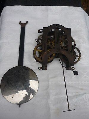 Antique American clock movement (complete) for Ansonia 'Regulator A' wall clock