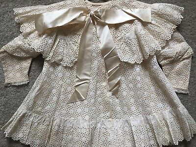Antique Victorian Girls Dress Broiderie Anglaise