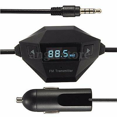 3.5mm Universal Car Audio Radio FM Transmitter Charger MP3 Player USB For