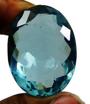 38.90cts. Natural Certified Oval Cut Ocean Blue Aquamarine Loose Gemstone 243
