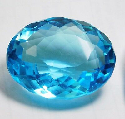 88.55cts. Natural  Oval Cut Ocean Blue Aquamarine Loose Gemstone k1219