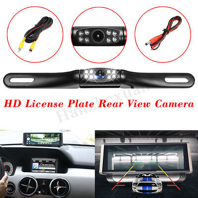 Car Reversing Parking Rear View Backup Camera License Plate Night Vision Cam Kit