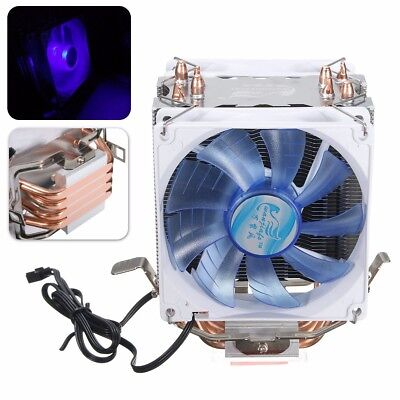 2 Fan 4 Heat Pipe Copper LED CPU Cooler Heatsink For LGA1156 AMD AM2/3 AM4