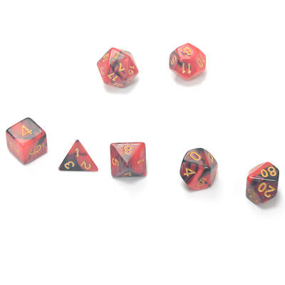 Pack of 7 Game D&D Colors 16mm Six Sided Gaming Dice Gift for TRPG Lovers