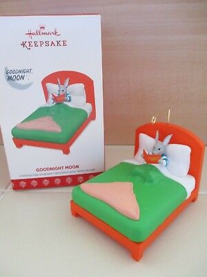 Hallmark Christmas Keepsake Ornament Kids Book Goodnight Moon Bunny in Bed