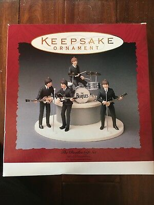 THE BEATLES Gift Set of 5 Ornaments Hallmark Keepsake Ornament 1994 - NIB