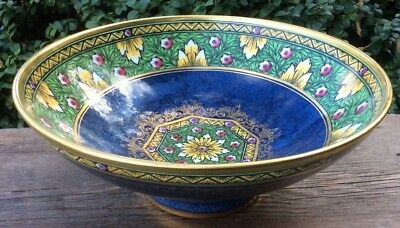 ANTIQUE MINTON MINTONS FOOTED BOWL 1890s ENAMELLED  & GUILDED