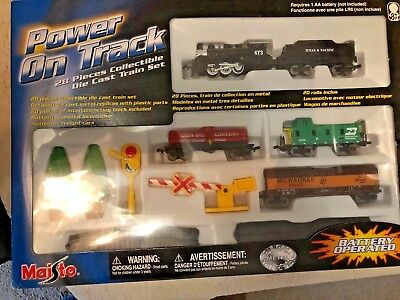 Maisto Power On Track 28 Piece Collectible Model Train Set New In Box