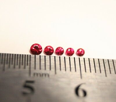 0.22ct AAA Mogok Red Spinel Melee  5pc Lot – Superb Rare Flawless Melee Lot