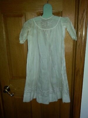 Antique Victorian Baby  Cotton Christening Gown Dress with Detail