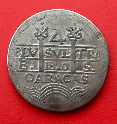 ¡¡ Very Interesting !! 4 Reales Ferdinand Vii. Caracas (Venezuela) 1820.