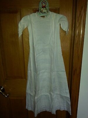 Antique Victorian Baby Lace & Cotton Christening Gown Dress