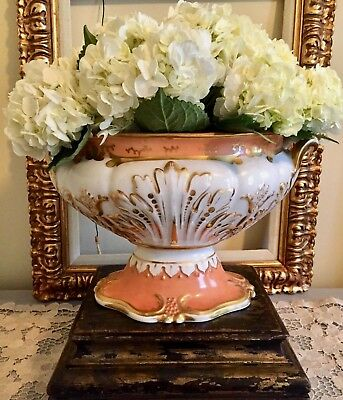 Antique French Paris Porcelain Tureen Base Planter Jardiniere