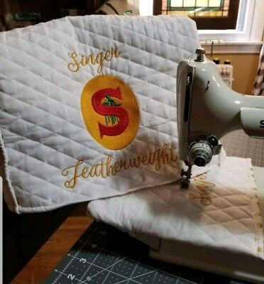 Singer Featherweight Sewing Machine Dust Cover w/ sleeve choice of badge 221 222