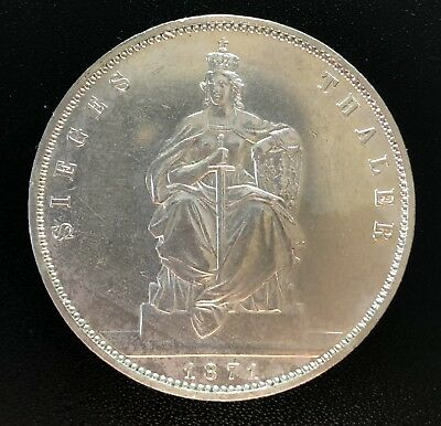 Germany Prussia 1871 A Thaler Silver Coin High Grade