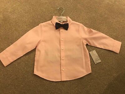 Boys Formal Shirt With Bow Tie 12-18 Months