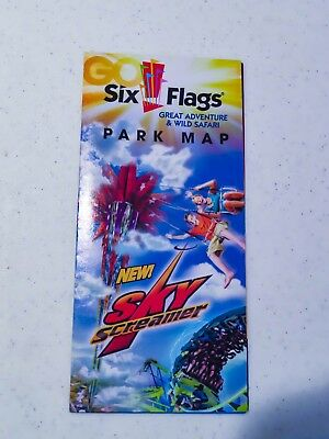 2012 Six Flags Great Adventure park map featuring Sky Screamer
