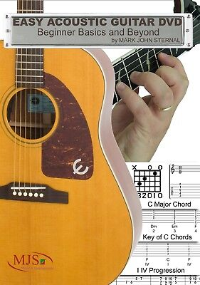 EASY ACOUSTIC GUITAR DVD Basic Lessons & Beyond for Beginner Chords Scales Songs