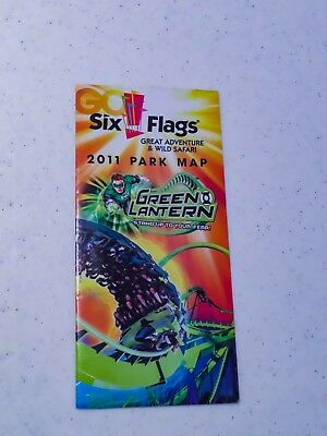 2011 Six Flags Great Adventure park map featuring Green Lantern