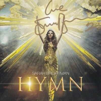 SARAH BRIGHTMAN Signed Autographed CD Insert Booklet