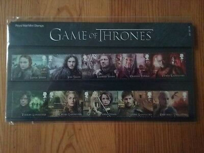 GAME OF THRONES Presentation Pack of 15 Mint Stamps Issued 23 January 2018