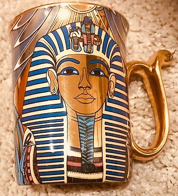 compton woodhouse wonders of the nile 2x china beakers mask of tut & tut & queen