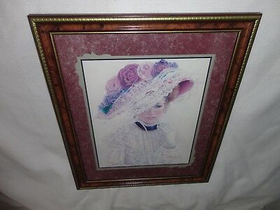 Home Interiors '' Victorian Lady in Hat '' Picture  Gorgeous   28.5'' x 22.5''