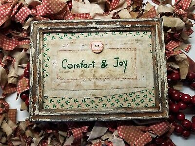 """Primitive Country Stitchery Home Decor 5x7 UNFRAMED """"Comfort"""" Embroidery"""