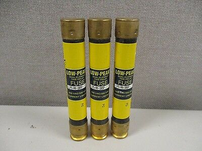 Lot Of 3 Cooper Bussmann Lps-Rk-30Sp Low Peak Dual-Element Time Delay Fuses