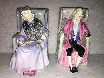 Pair of Royal Doulton Porcelain Figurine,Joan and Darby