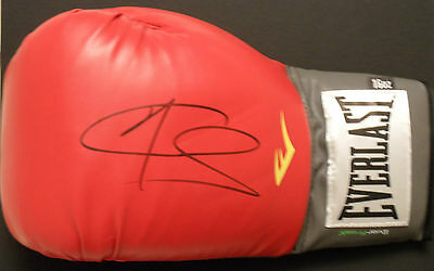 JOE CALZAGHE Signed In Person BOXING GLOVE Photo Proof COA