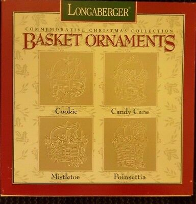 Longaberger  Pewter Basket Christmas  Ornaments* 1995* Never Opened*** Perfect