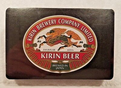 Kirin Beer playing cards Vintage