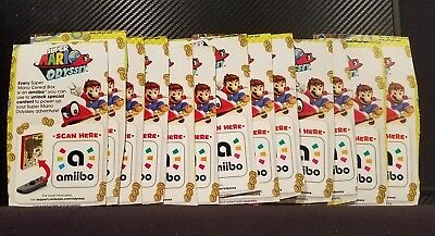 Super Mario Odyssey Cereal Nintendo Swith Amiibo Only Lot Of 13